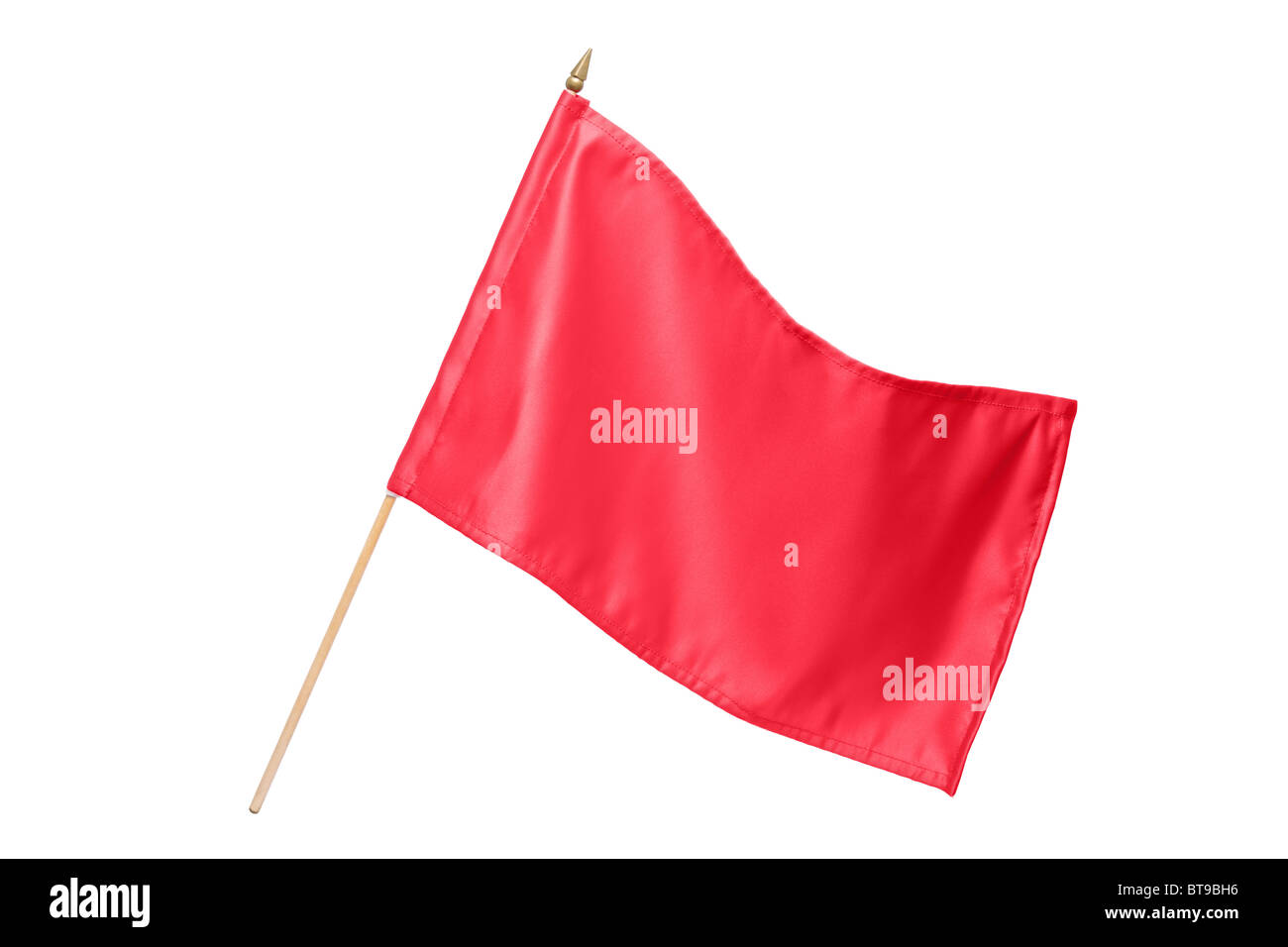 Silk red flag - Stock Image