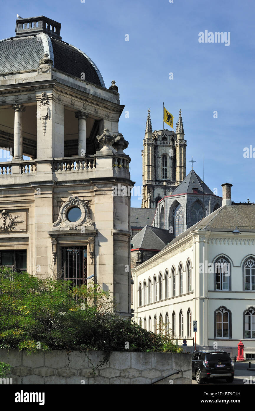 Building of the former National Bank and the Roman Catholic Diocese of Ghent, Belgium - Stock Image