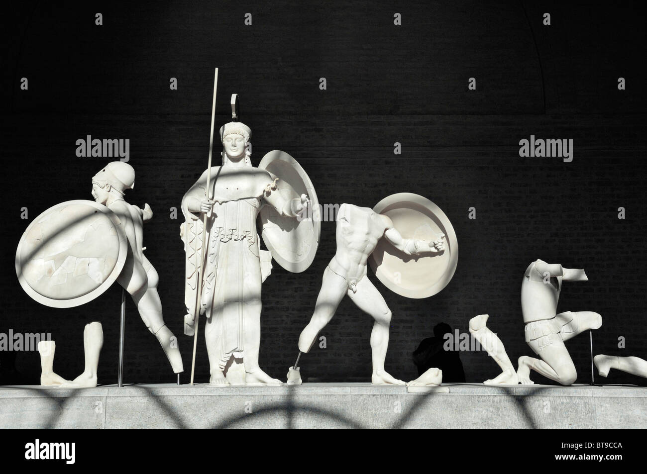 Athena in the west pediment of the Temple of Aegina, about 500 BC., Glyptothek museum, Munich, Bavaria, Germany, Stock Photo