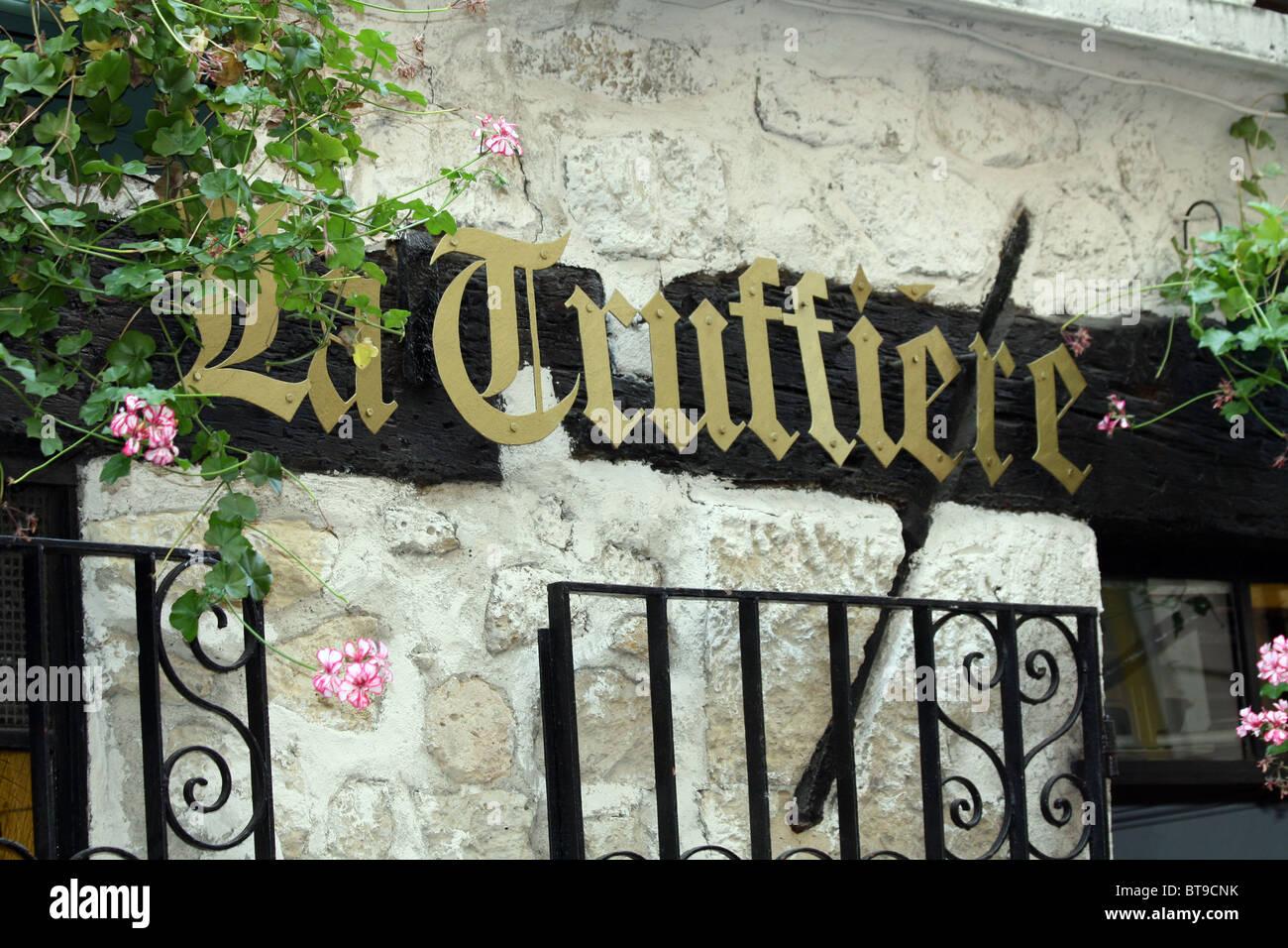 La Truffiere restuarant in Paris, France - Stock Image