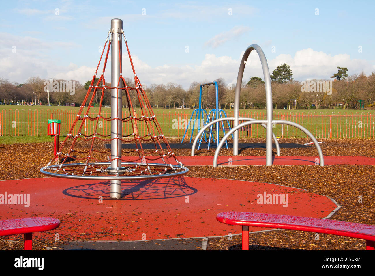 Roath Park Recreation ground children's play park, Cardiff, UK, GB - Stock Image