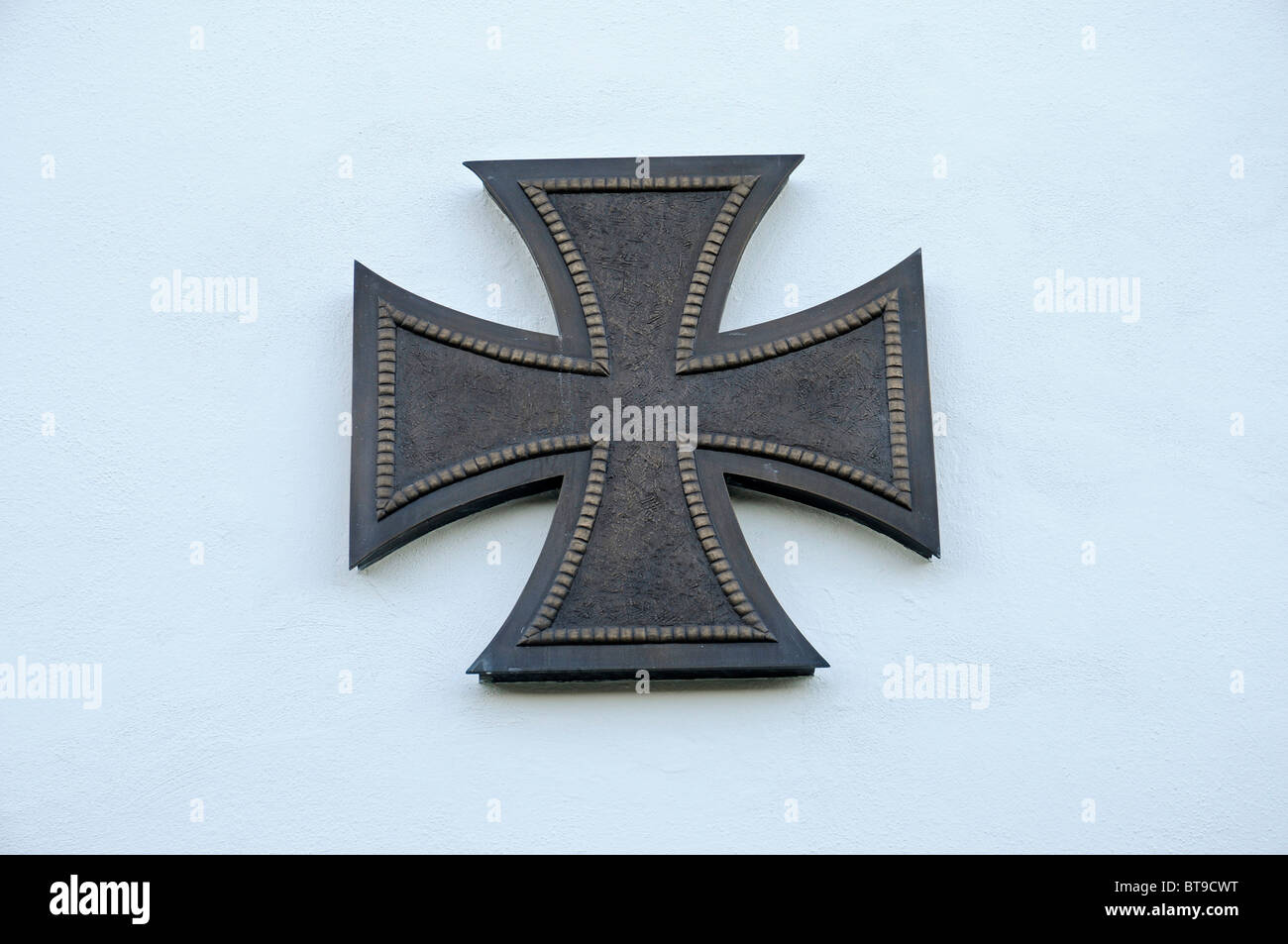 Iron Cross, symbol, war decorations, medals, casualties of the Army, War Memorial, Ehrenbreitstein Fortress, Koblenz - Stock Image