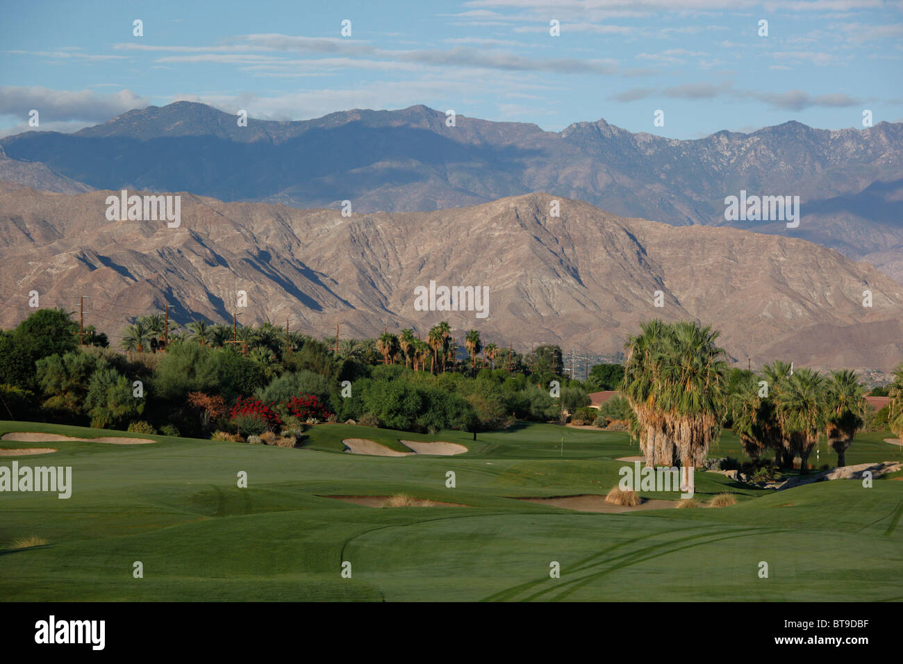 Desert Willow golf course in Palm Desert, California, USA. - Stock Image
