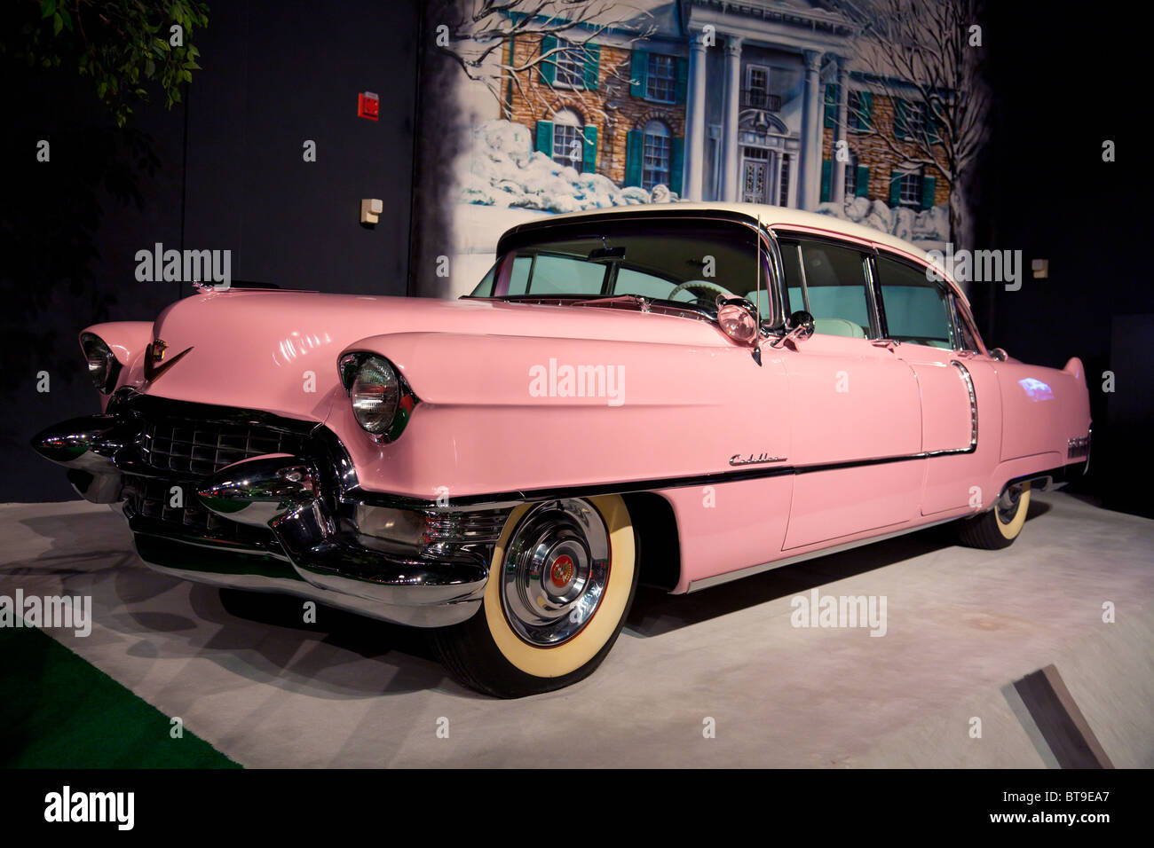 Elvis Pink Cadillac Stock Photos Elvis Pink Cadillac Stock Images