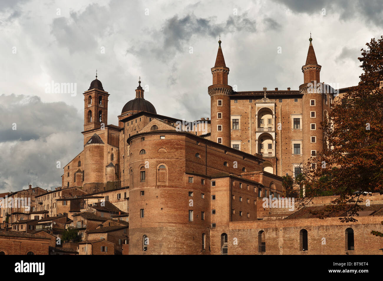 The Ducal Palace of Urbino, Marche, Italy Stock Photo