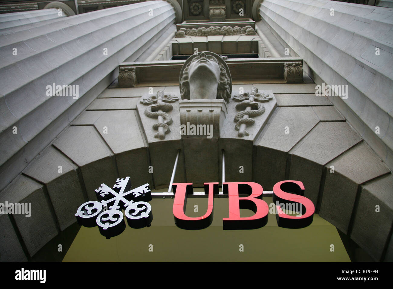 UBS branch, Bahnhofstrasse in Zurich, Switzerland, Europe - Stock Image