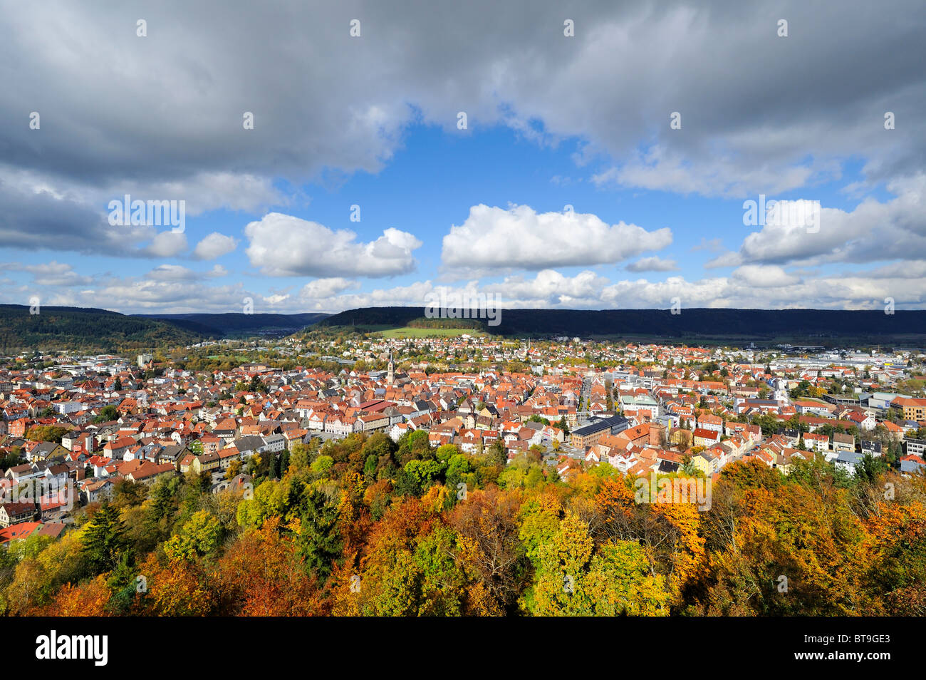 View of the city of Tuttlingen, Baden-Wuerttemberg, Germany, Europe - Stock Image