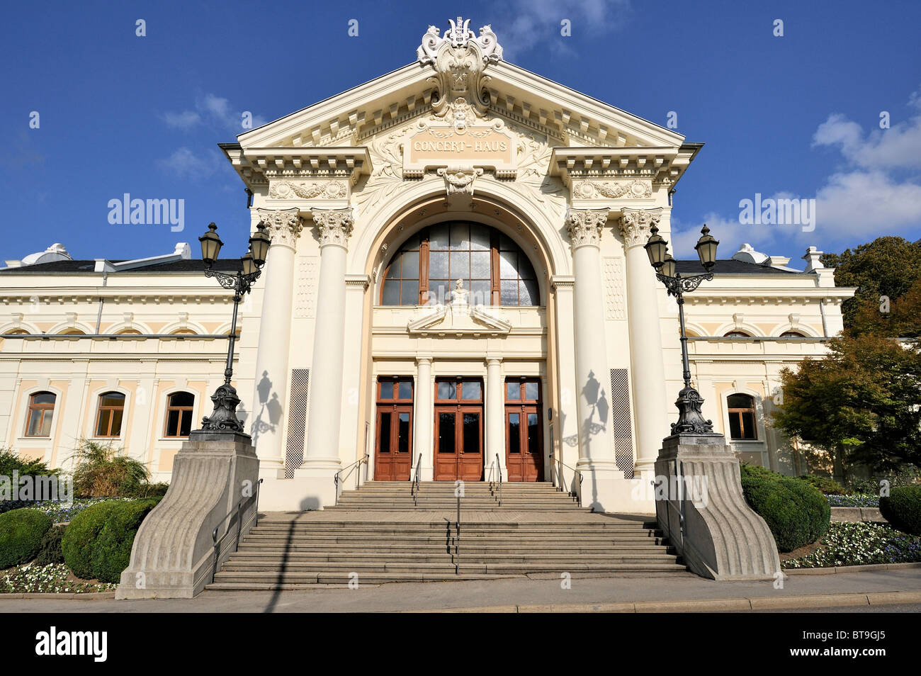 Concert hall in Ravensburg, a significant historical building of the late 19th century, Ravensburg county, Baden - Stock Image