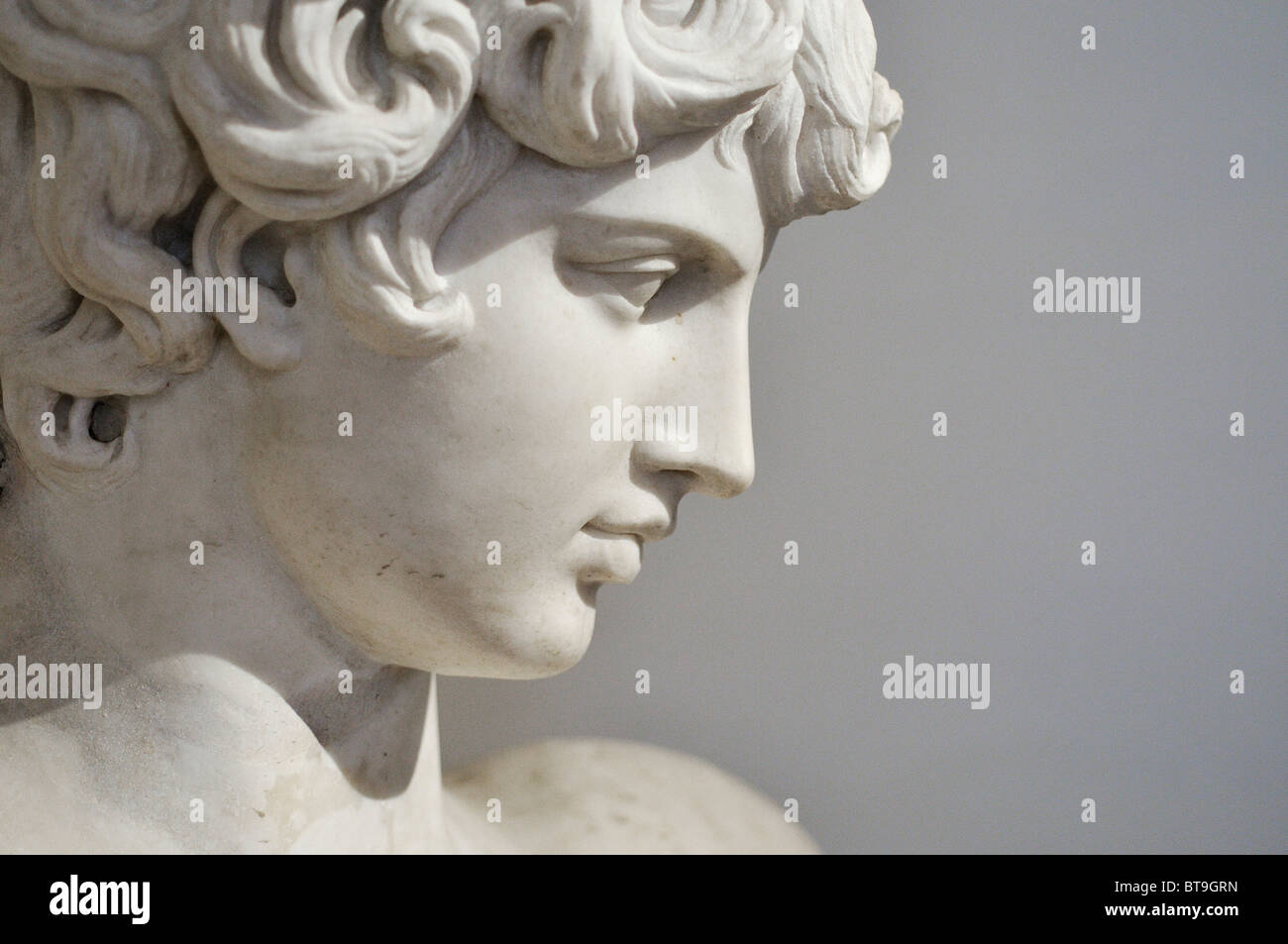 Rome. Italy. Museo Nazionale Romano. Palazzo Altemps. Antinous, from the Ludovisi Collection. Ludovisi Antinous. - Stock Image