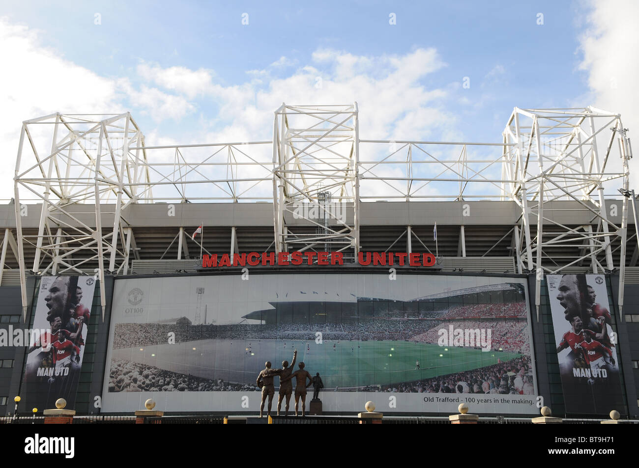 Old Trafford home to Manchester United Football Club - Stock Image