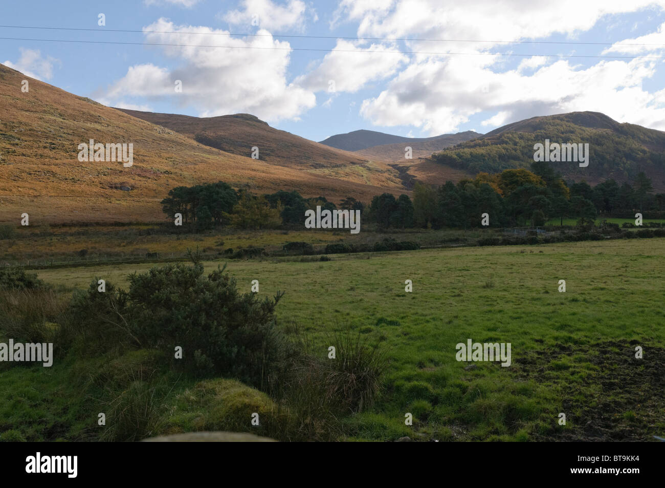 Mourne Mountains, County Down, Northern Ireland, featured in Game of Thrones - Stock Image