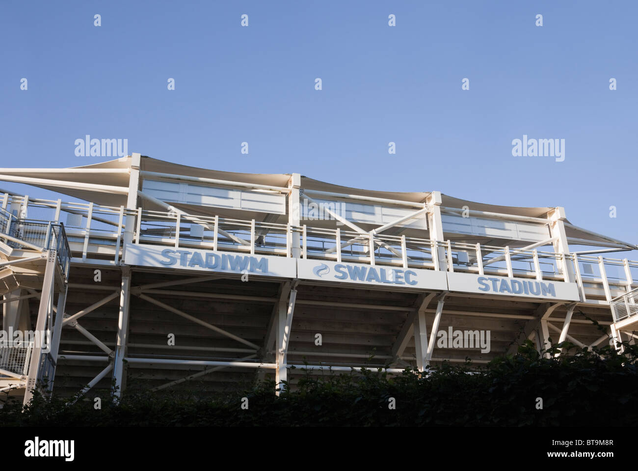Cardiff (Caerdydd), South Glamorgan, South Wales, UK, Europe. Swalec stadium - Stock Image