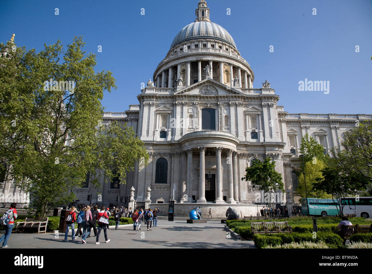 Saint Paul's Cathedral. City of London, England - Stock Image