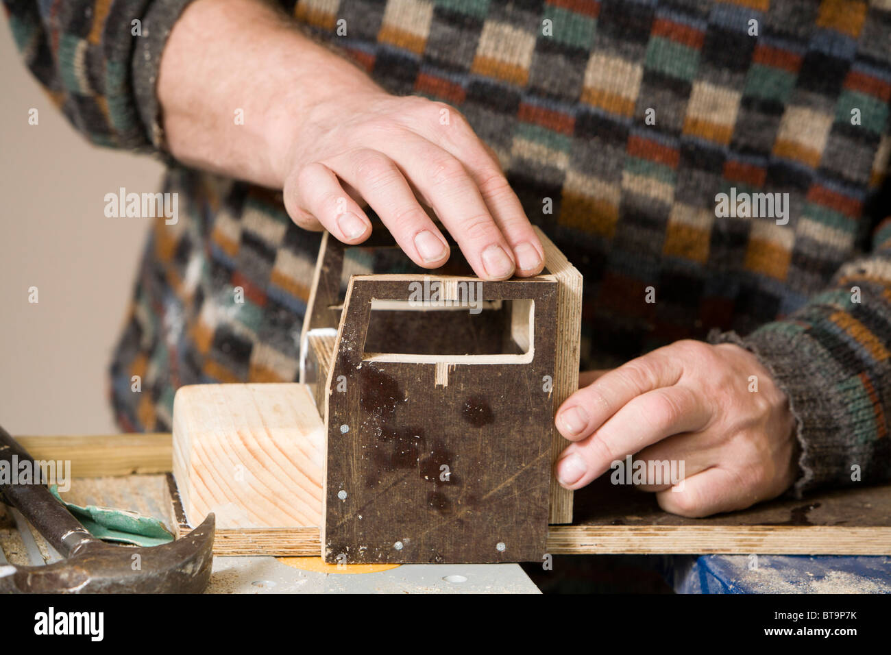 Man Making A Wooden Toy Truck Stock Photo 32177143 Alamy
