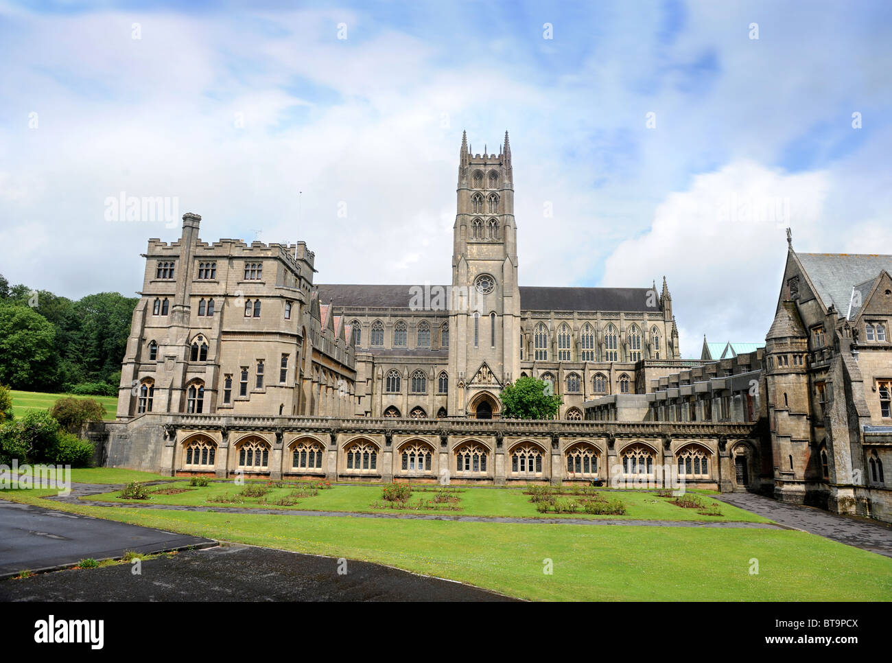 Downside Abbey and school in Stratton-on-the-Fosse near Radstock, Somerset UK Stock Photo