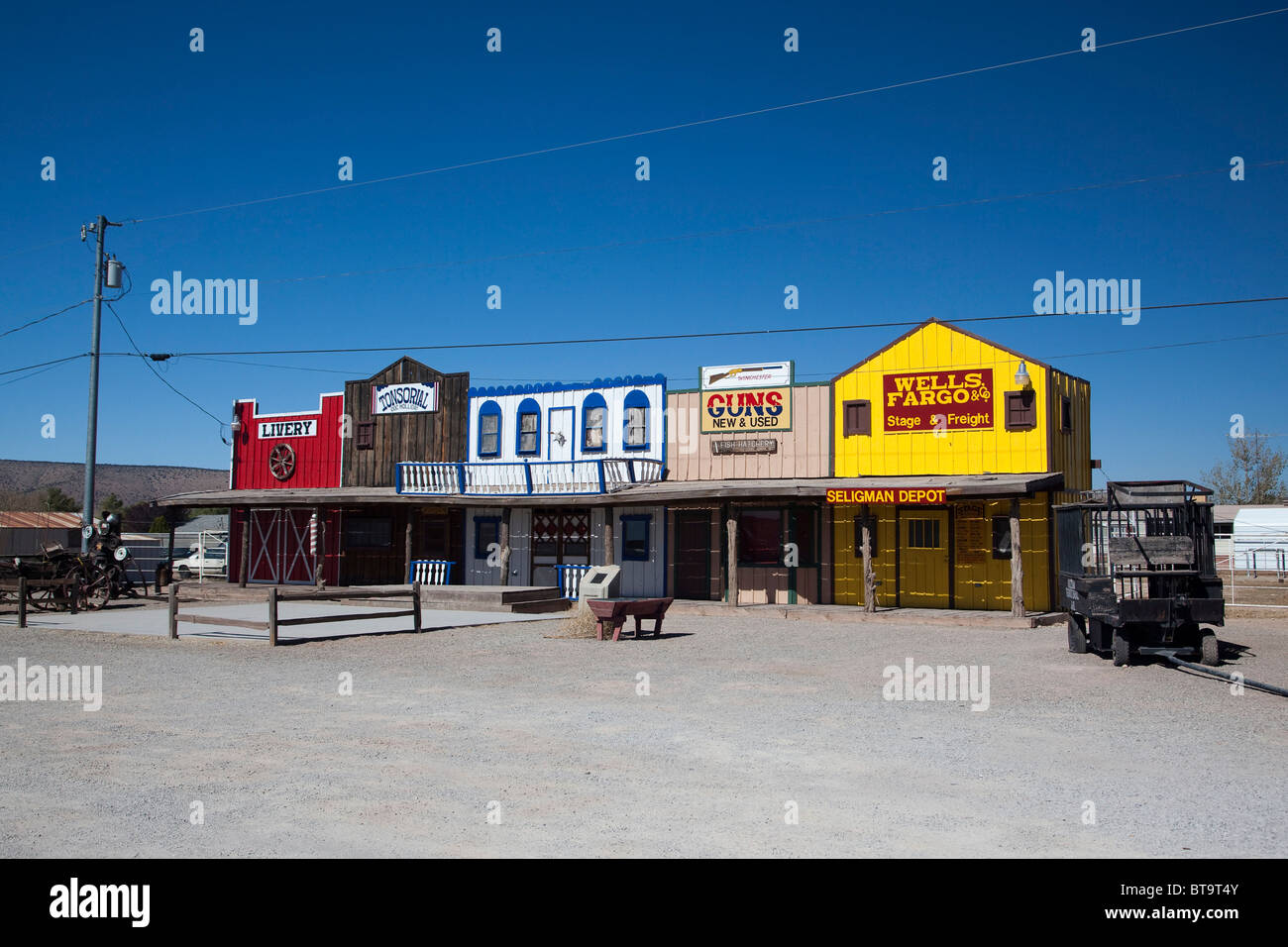 Souvenir shops on the historic Route 66