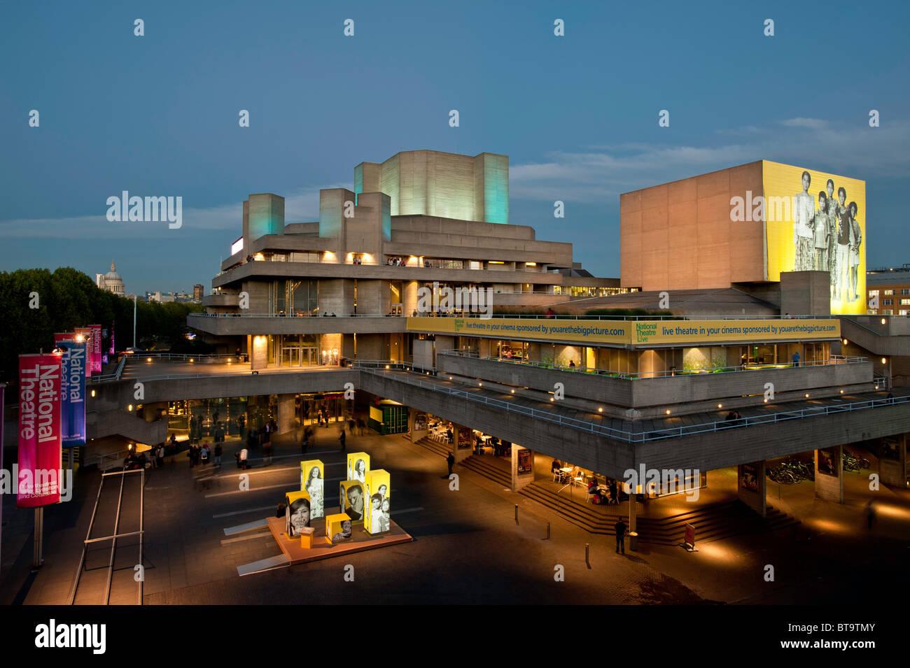 Royal National Theatre, Southbank, London, United Kingdom - Stock Image