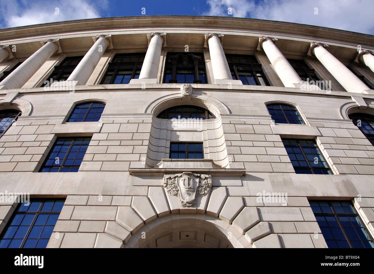 Art deco facade of Unilever House, Victoria Embankment, Blackfriars, City of London, Greater London, England, United - Stock Image