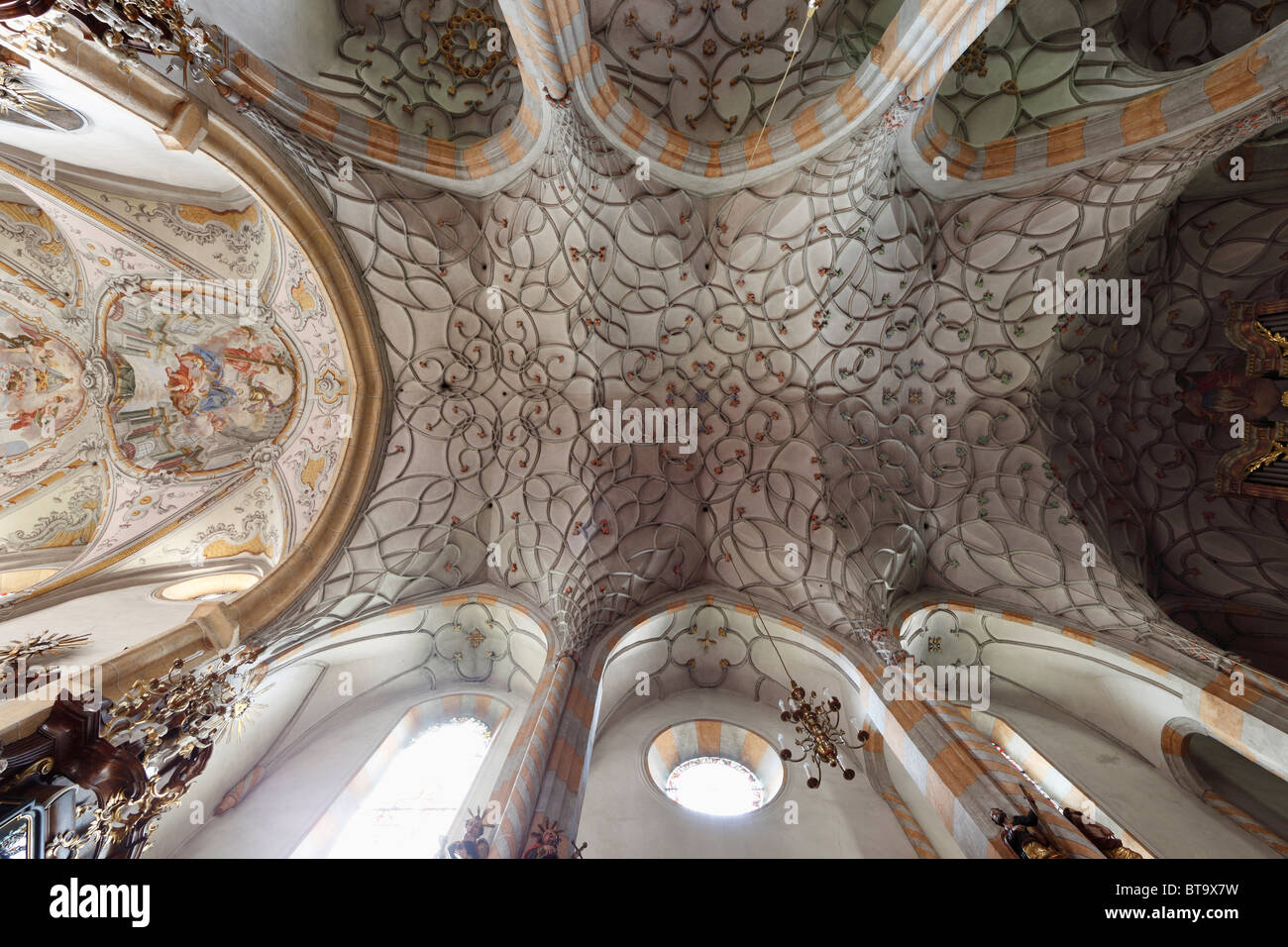 Arched Ceiling, Late Gothic Hall Church, Parish Church U0027Unsere Liebe Frauu0027  Church