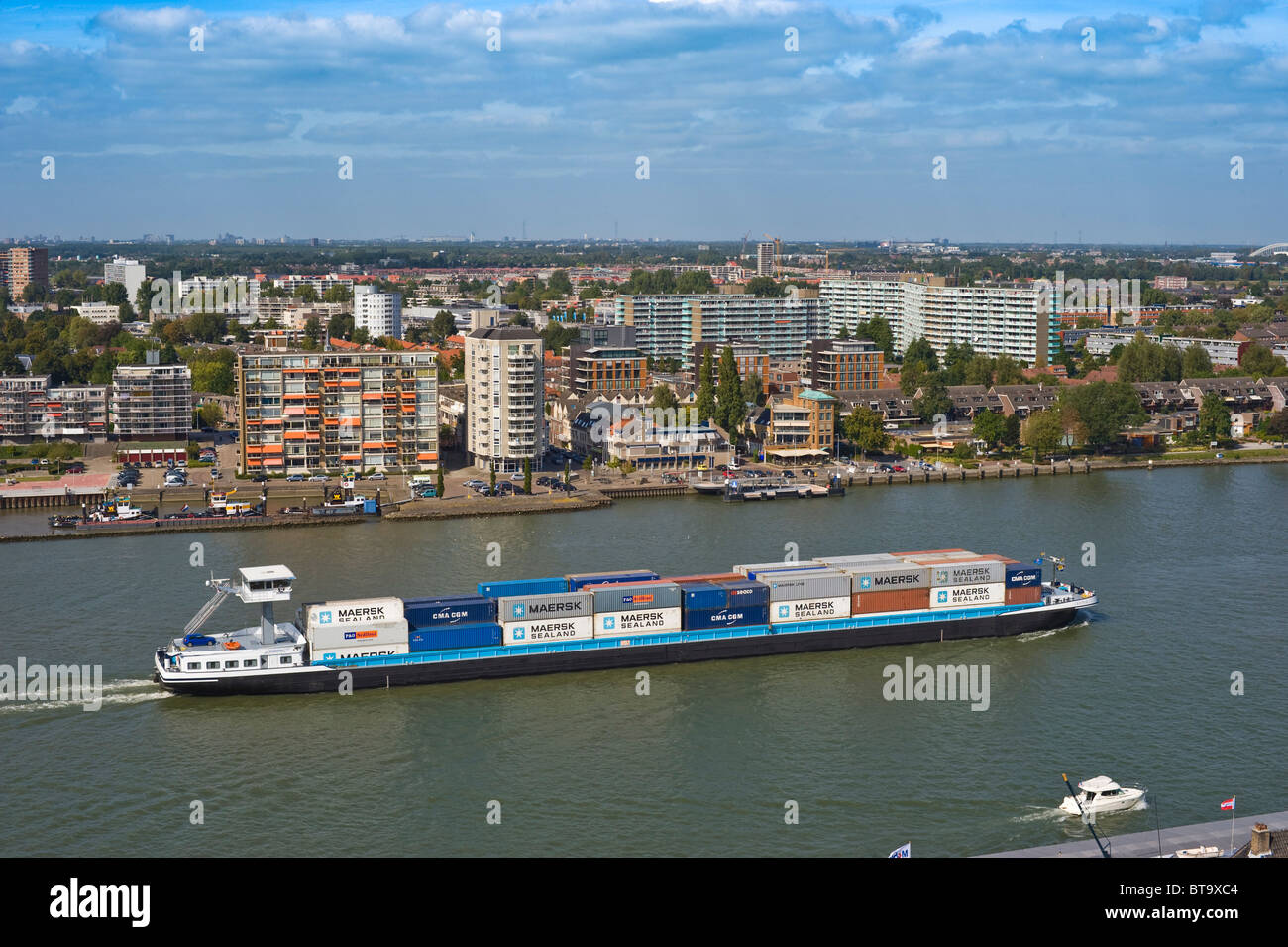 View of the city and the Maas, Dordrecht, South Holland, Holland, Netherlands, Europe Stock Photo