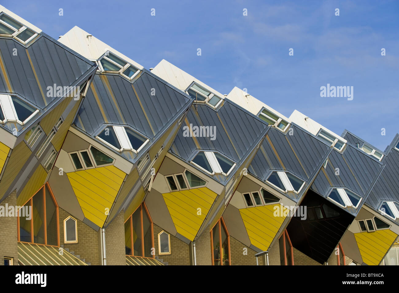 Blaakse Bos, cube architecture, Rotterdam, South Holland, Holland, Netherlands, Europe - Stock Image