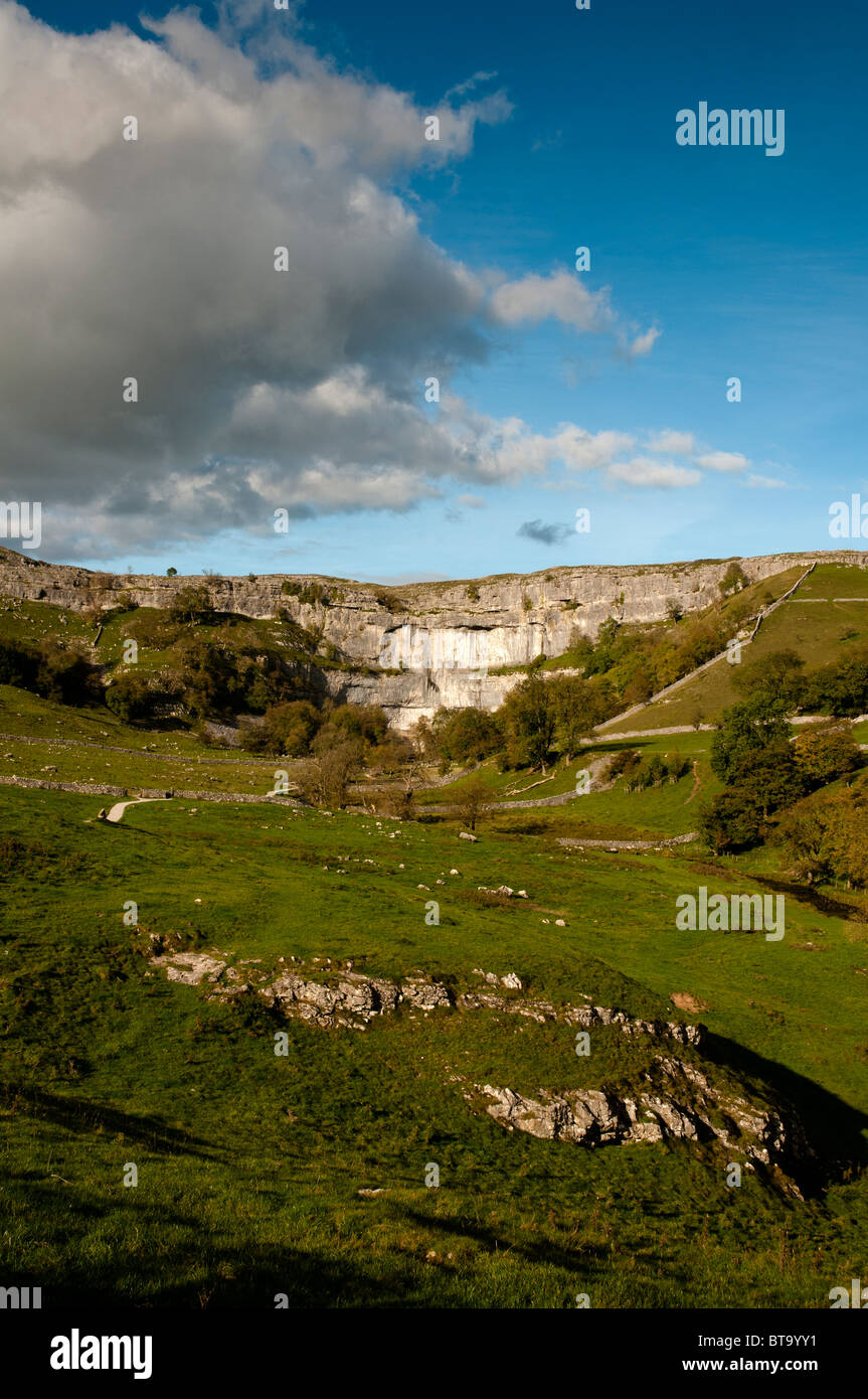 Malham Cove, North Yorkshire, United Kingdom. - Stock Image