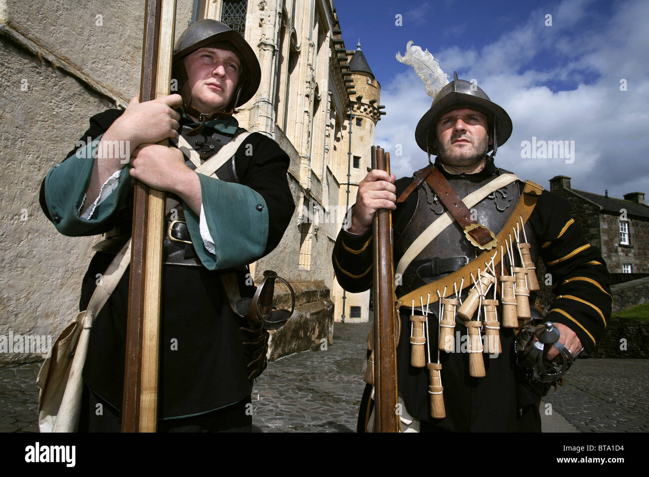 Oliver Cromwell Soldiers / Musketeers, Stirling Castle, Stirling, Scotland Stock Photo