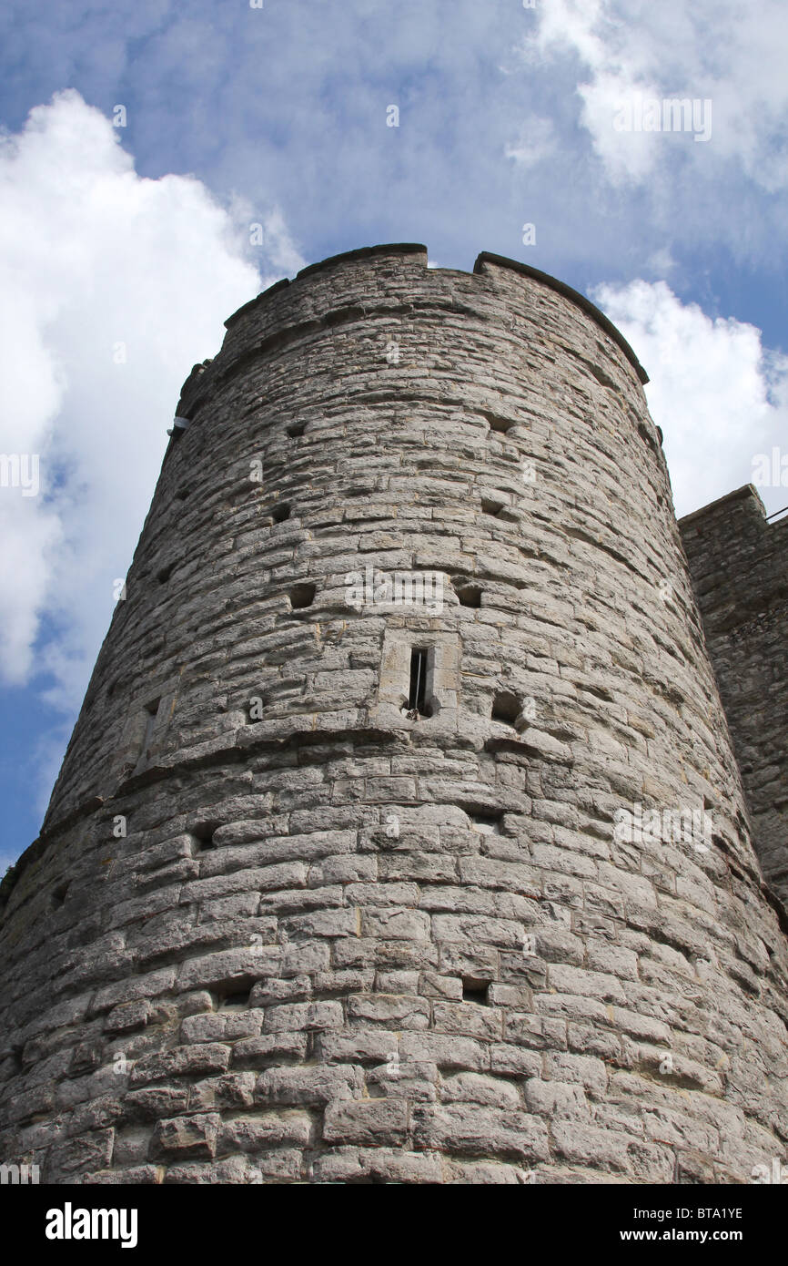 Looking upwards at The Westgate Tower in Canterbury, Kent, UK. - Stock Image