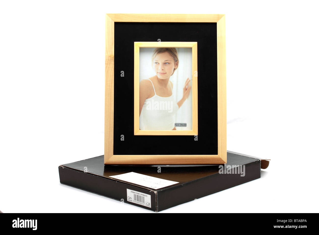 """the Giftware Association Rivera 4 x 6"""" photoframe, overall size 10x 8 approx Stock Photo"""
