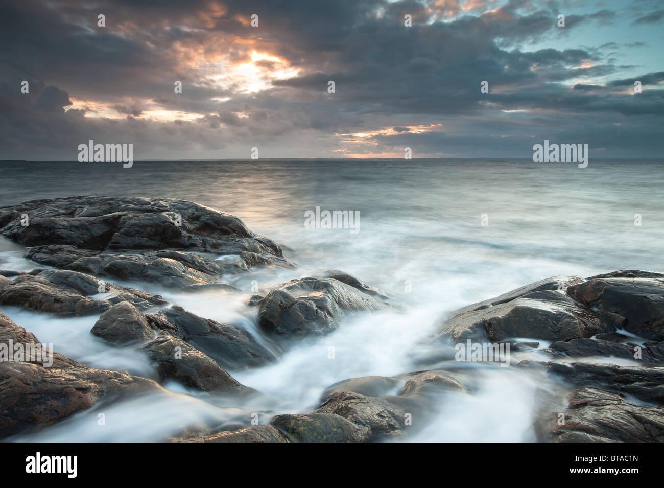 Coastal landscape at Larkollen in Rygge kommune, Østfold fylke, Norway. - Stock Image