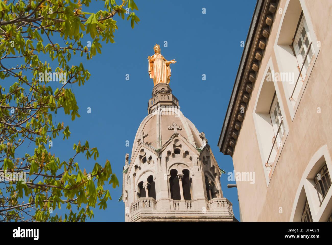 Basilica Notre-Dame de Fourvière, Vieux Lyon district ,Lyon, France Stock Photo
