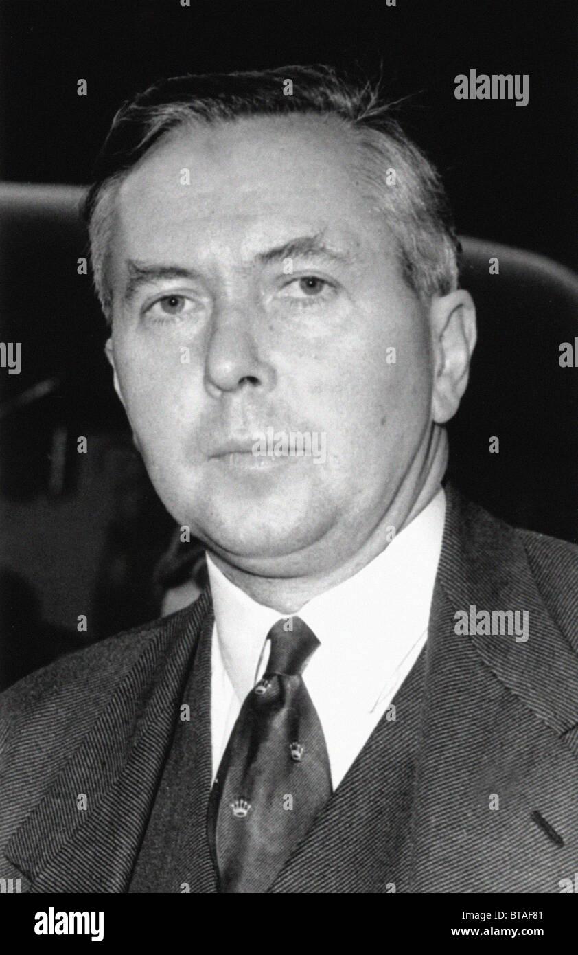 Harold Wilson. The Right Honourable James Harold Wilson - Baron Wilson of Rievauix, KG, OBE, FRS, PC. Prime Minister - Stock Image