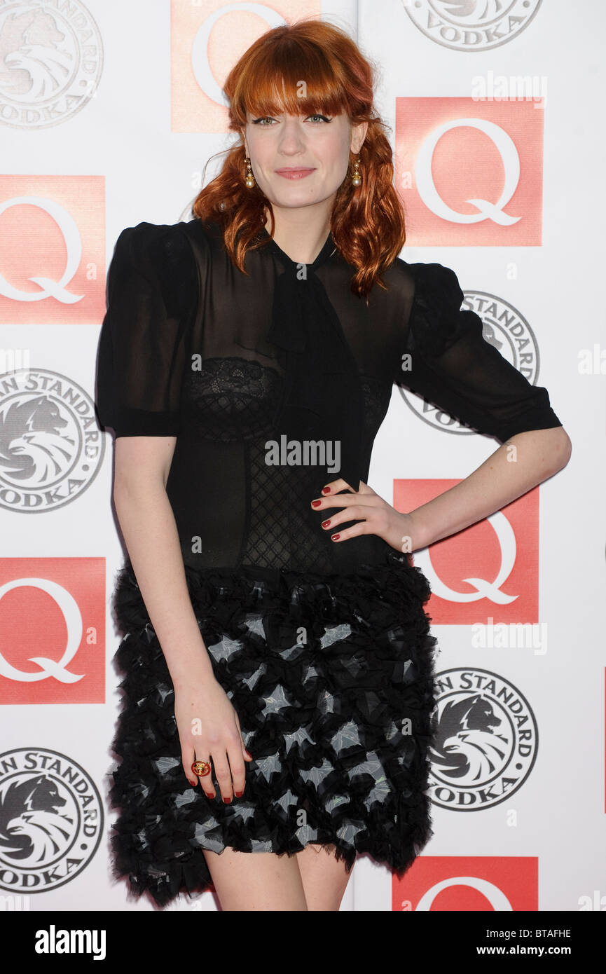 Florence Welch attends the Q Awards at Grosvenor House, London, 25th October 2010. - Stock Image