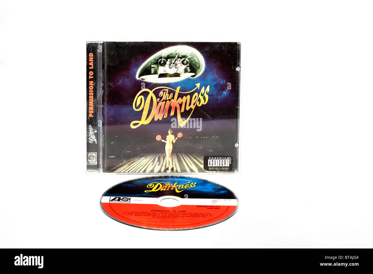 the Darkness - permission to Land Music CD - Stock Image