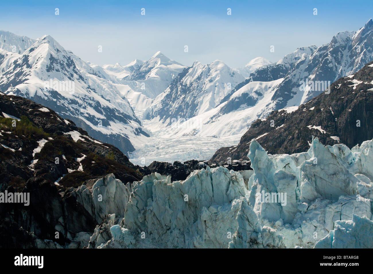 Marjorie Glacier in Alaska, USA - Stock Image