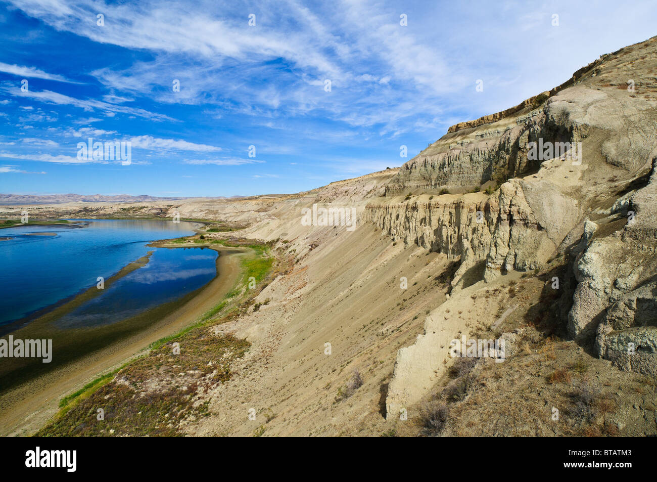 White Bluffs of Hanford Reach National Monument and Saddle Mountain National Wildlife Refuge, central Washington. - Stock Image
