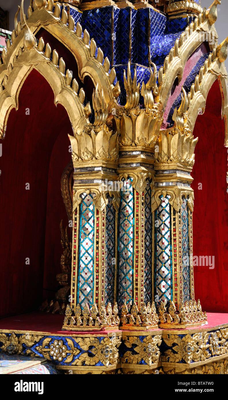 The Grand Palace Bangkok Thailand Wat Phra Kaew Temple of the Emerald Buddha Wat Phra Sri Rattana Satsadaram Stock Photo