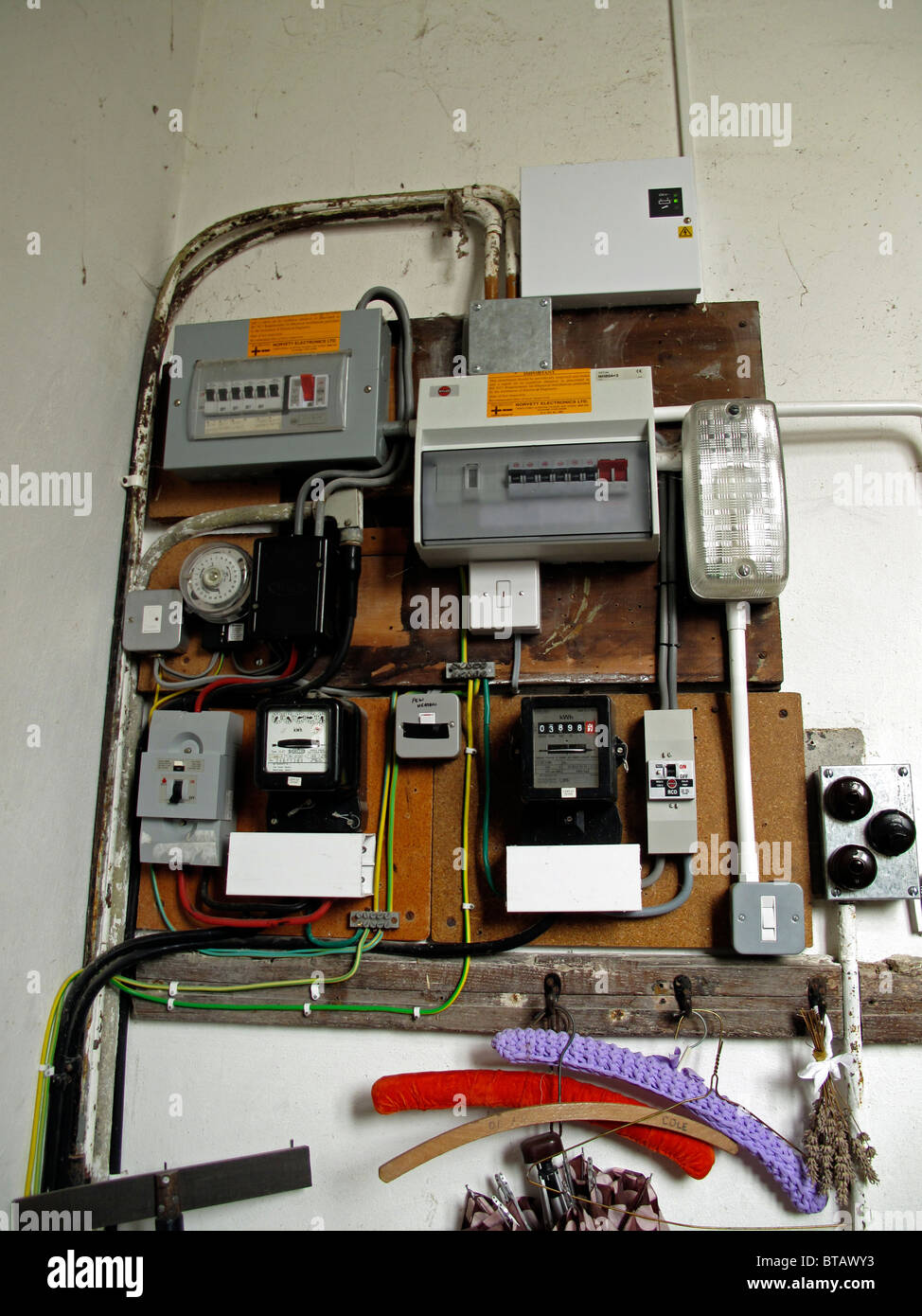 electrical supplies,switches, fuse boxes and meters stock photo Electrical Wiring Details electrical supplies,switches, fuse boxes and meters