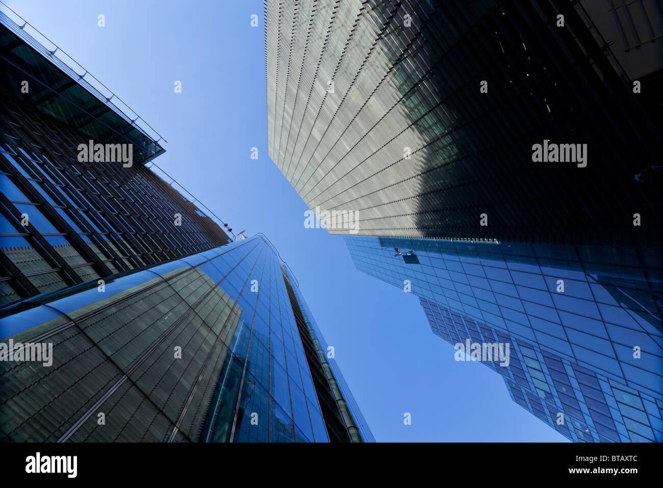 Citypoint (L) and other office buildings in Ropemaker place, London, UK - Stock Image