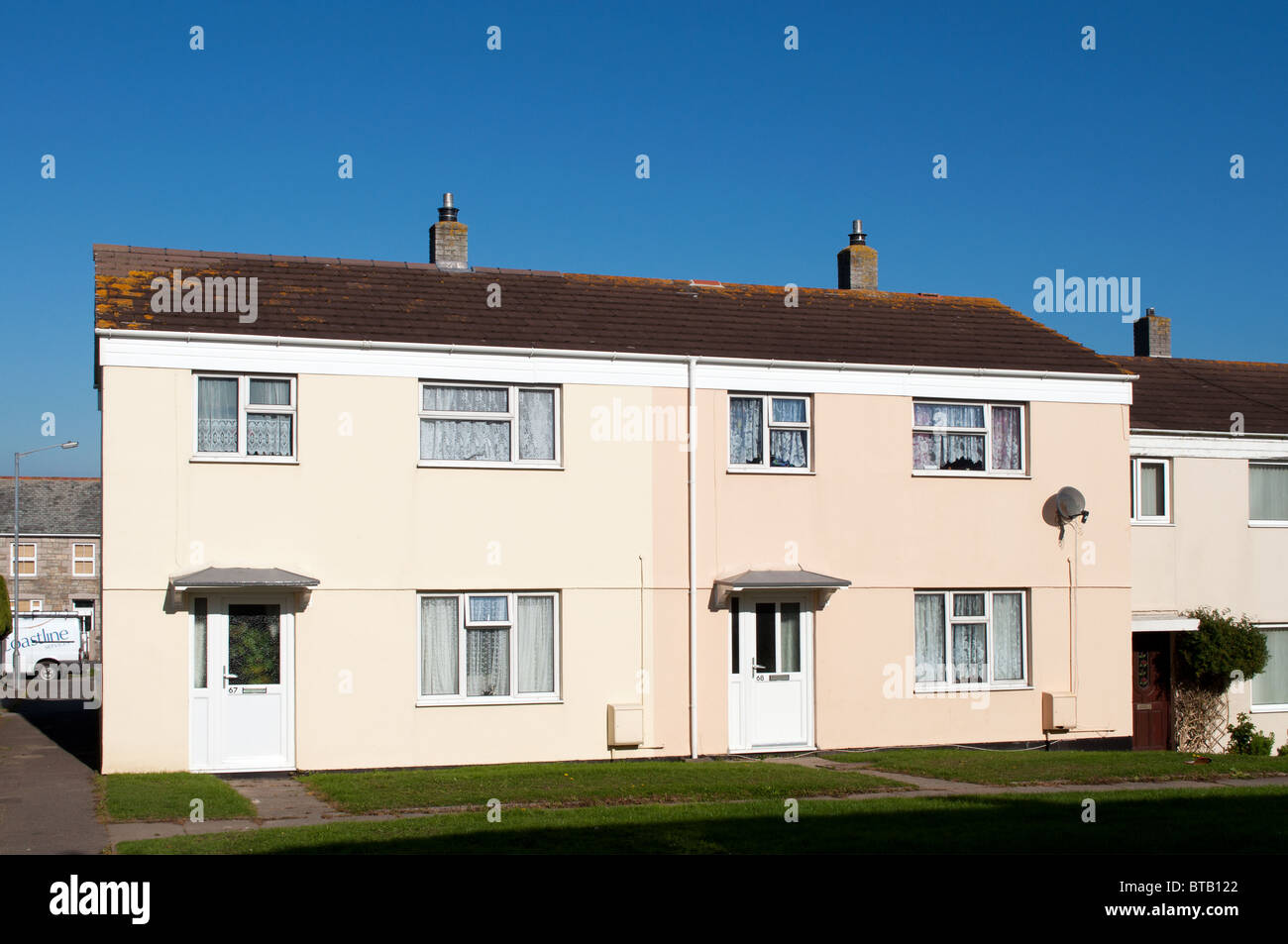 council housing in Redruth, Cornwall, Uk Stock Photo