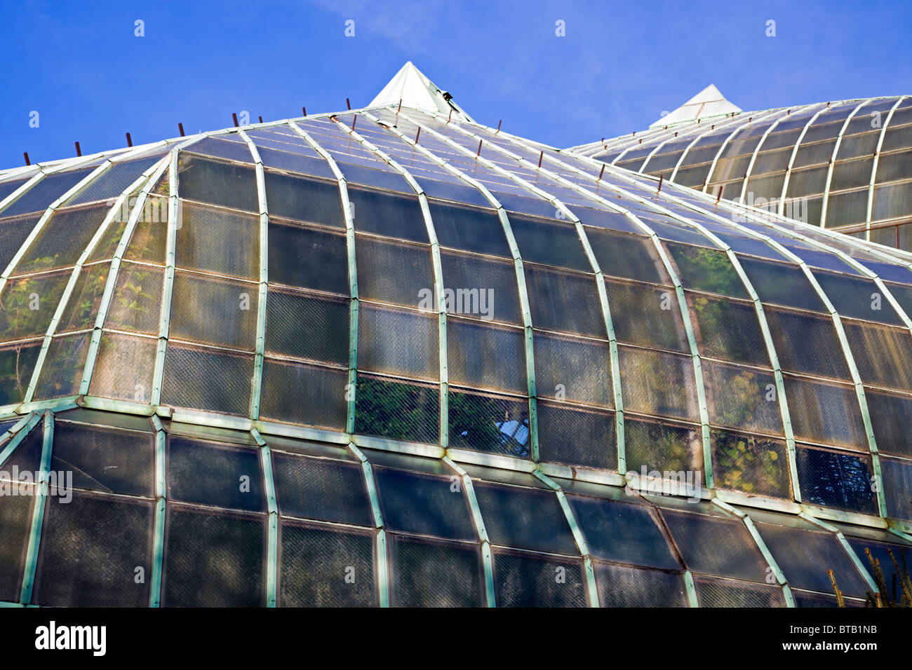 Roof of Lincoln Park Conservatory - Stock Image