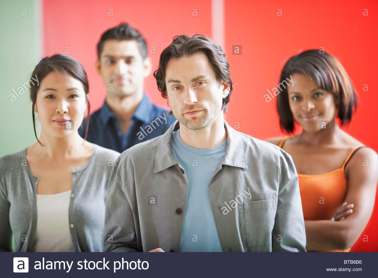 Confident men and women - Stock Image