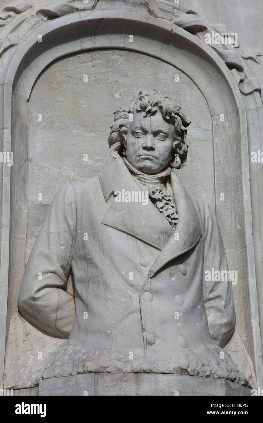 Beethoven, Haydn, Mozart, monument  in Berlin - Stock Image