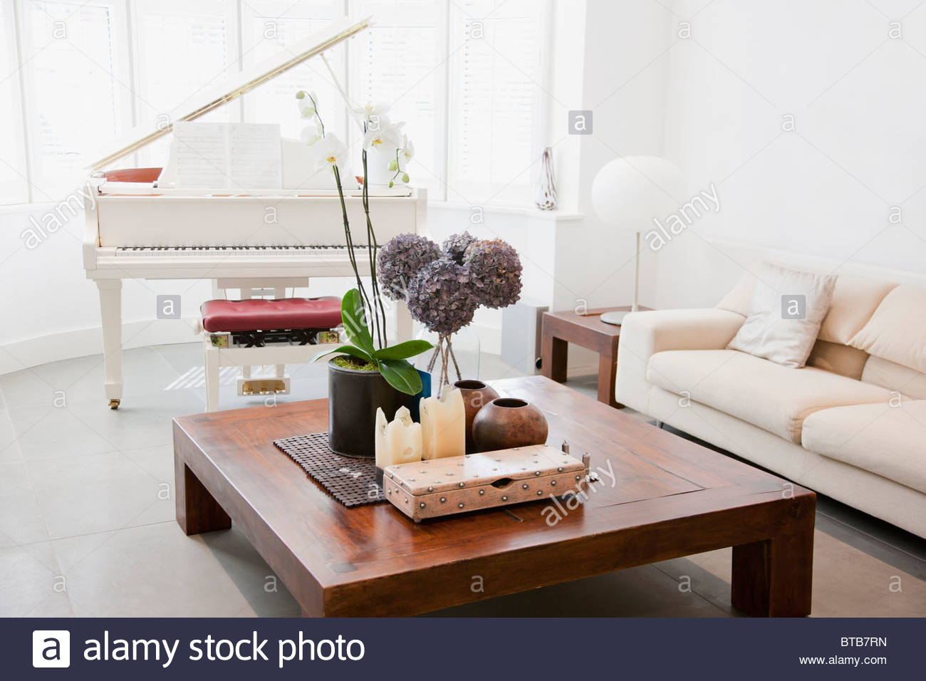 Piano and furniture in living room Stock Photo: 32209737 - Alamy