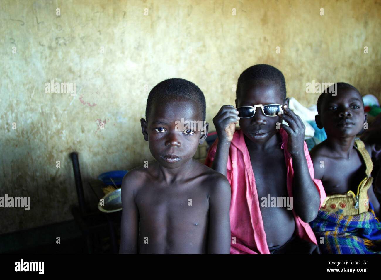 displaced people in Uganda - Stock Image