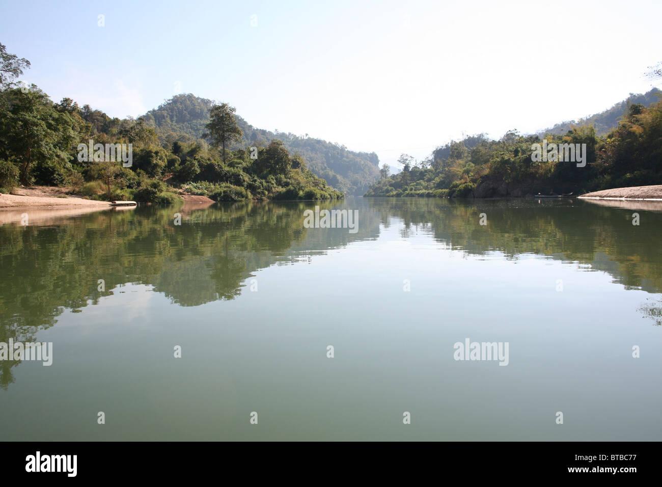river between thailand and burma - Stock Image