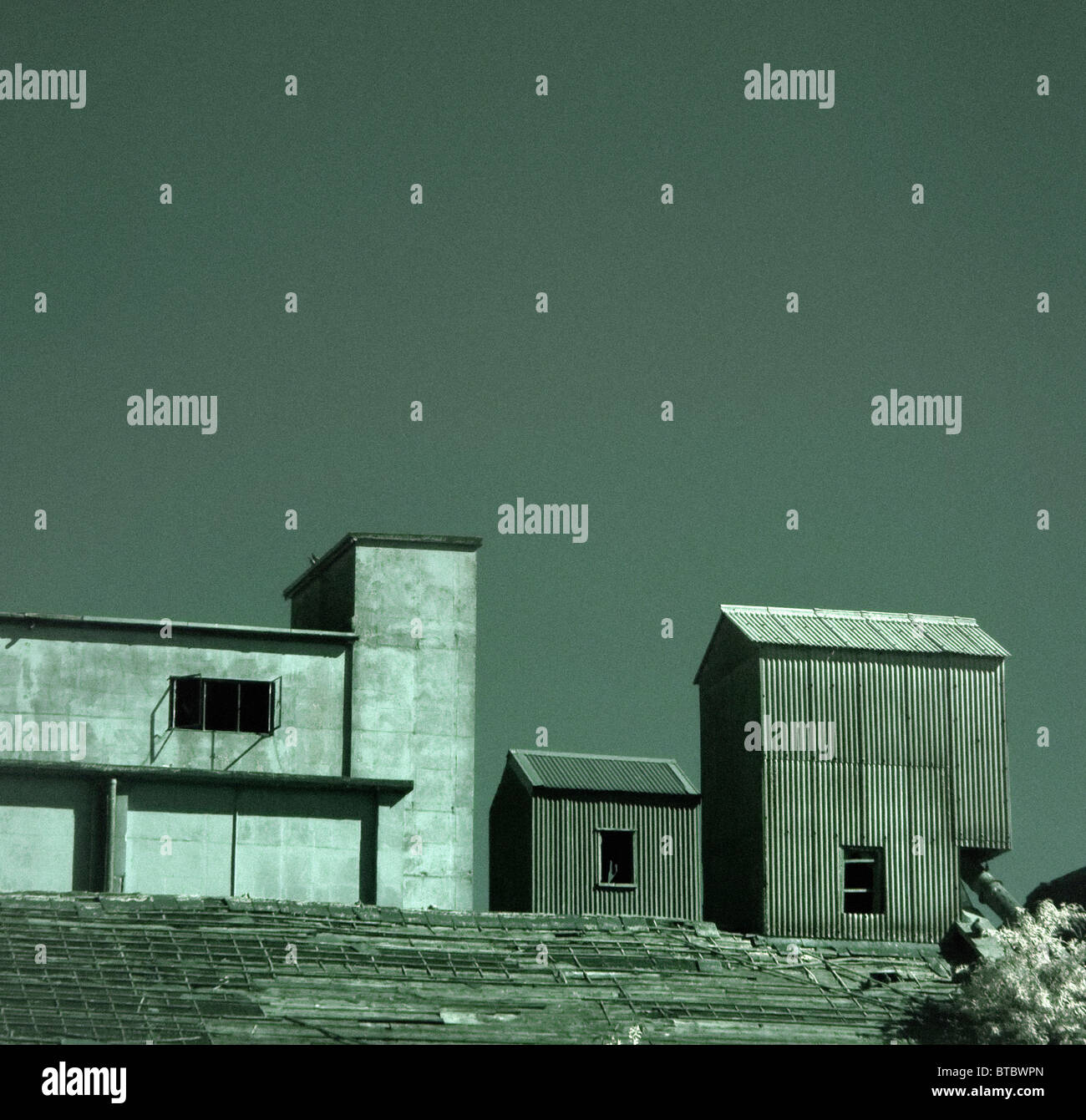 disused factory - Stock Image