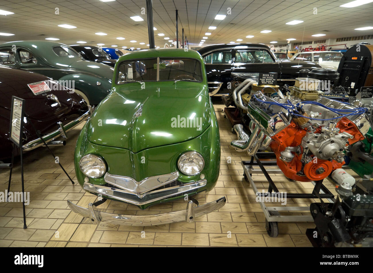 Don Garlits Museum of Classic Automobiles Ocala Florida 1948 Crosely Station Wagon 50 mpg mileage Stock Photo