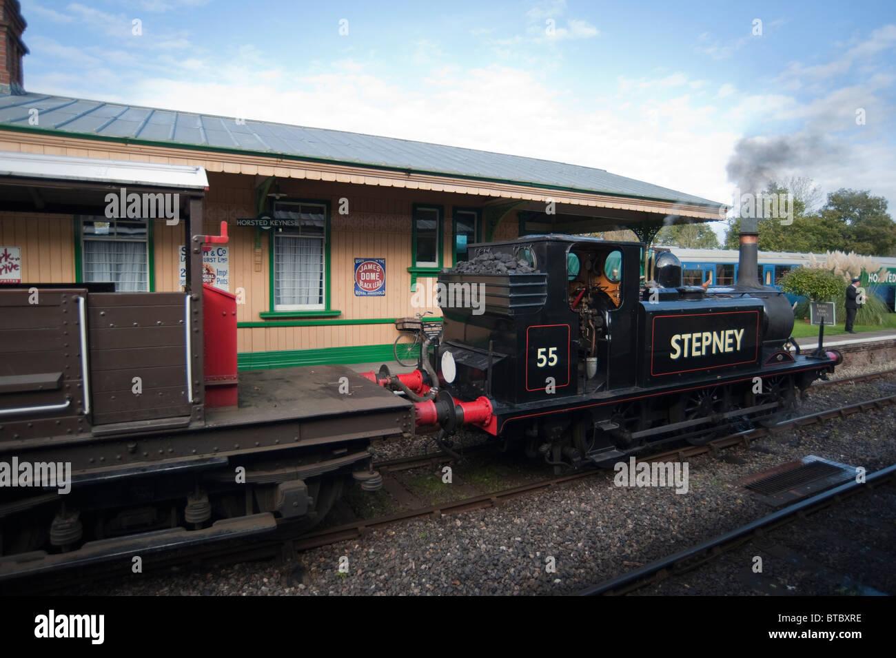 A1X  Class Locomotive 55 Stepney, Bluebell Railway, Sussex, England Stock Photo