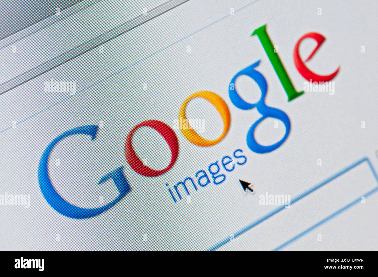 Screenshot from homepage of Google Images search website - Stock Image
